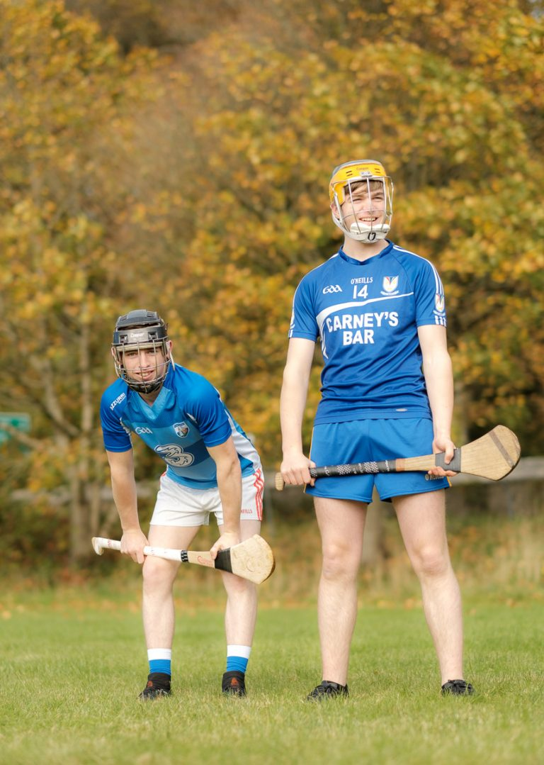 Students from Ennis Community College playing hurling. Photograph by Paul Corey