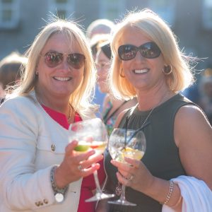 Mary Howard and Anne Kilker enjoying a Jin at the Old Ground. Press photo by Paul Corey.