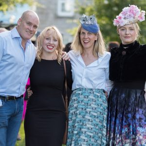 Allen Flynn, Grainne Cotter, Angie Gough and Margaret O'Connor at the Gin & Jazz Midsummer Soirée, Old Ground Ennis. Photo by Paul Corey.
