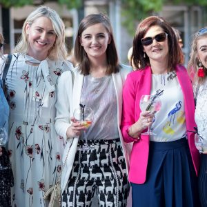 Maire O'Halloran, Jean McCabe, Alison Garry, Sarah Cahill and Afra Dillon dressing in style at the annual Gin and Jazz Midsummer Soirée. Photo by Paul Corey.
