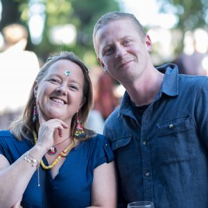 Sinead Garvey from Inagh and David Hackett from Cork city at the annual Gin and Jazz Midsummer Soirée. Photo by Paul Corey.