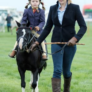 Lilly Stevenson and Isobel Huffin from Tubber participating at the Mullagh Agricultural Show. Photo by Paul Corey.