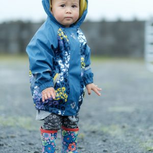 Finnigan Scullen from Lahinch keeping dry at the Mullagh Agricultural Show. Photo by Paul Corey.
