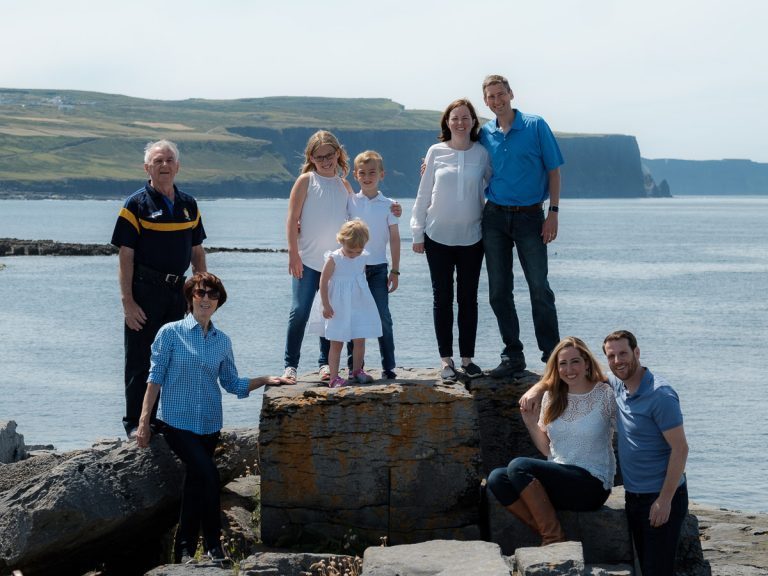 Family portrait photography by Paul Corey, Ennis, County Clare
